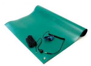 anti static high temperature mat kit green